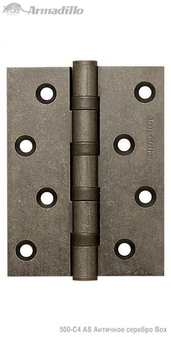 Петля универсальная 500-C4 100x75x3 AS Античное серебро Box
