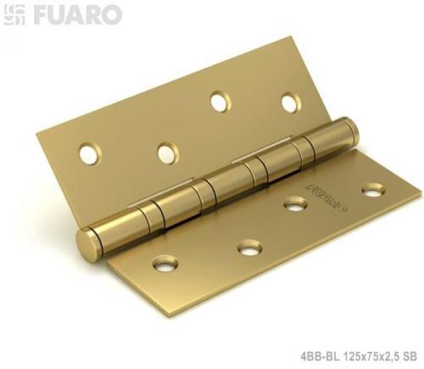 Петля универсальная 4BB/BL 125x75x2,5 SB (мат. золото) БЛИСТЕР