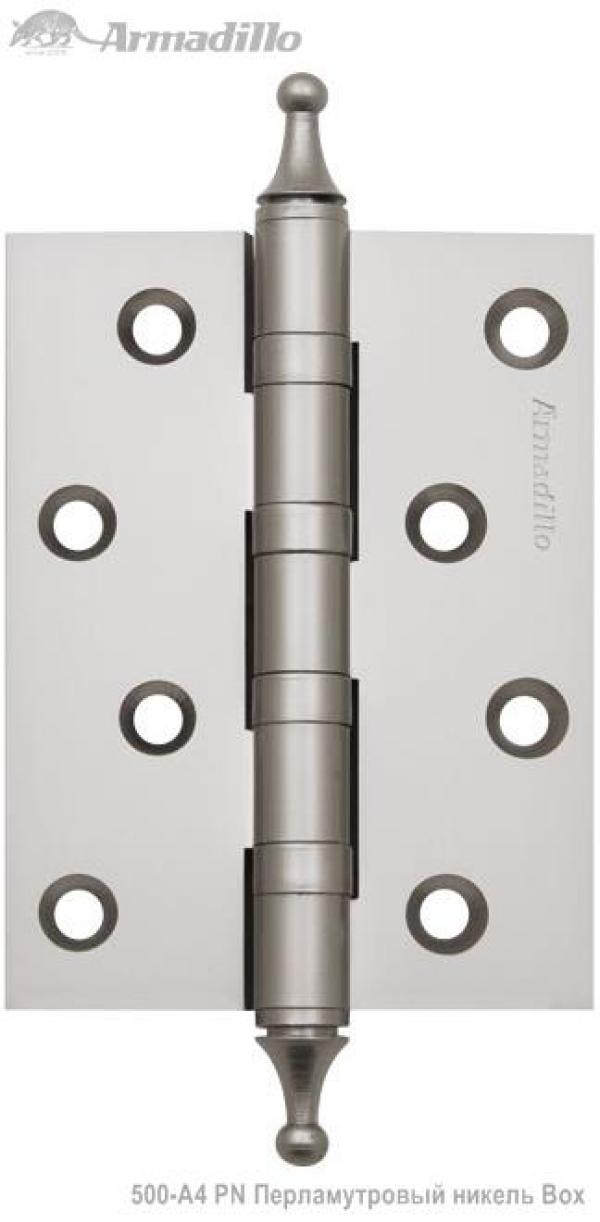 Петля универсальная 500-A4 100x75x3 PN Перламутровый никель Box