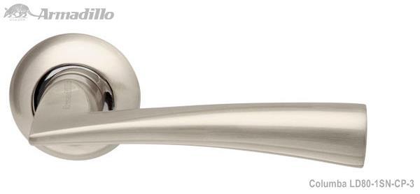 Ручка раздельная Columba LD80-1SN/CP-3 матовый никель/хром